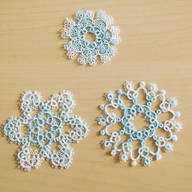 Tatting snowflake Lizbeth thread size 40